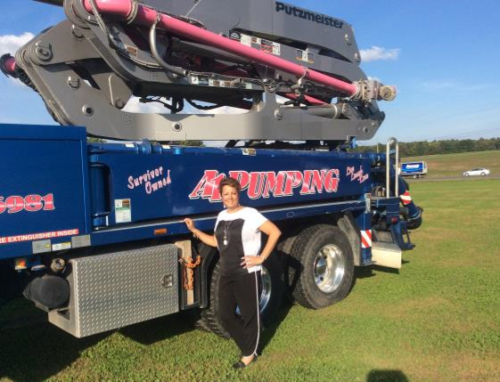 Diana with Pink Pump Truck